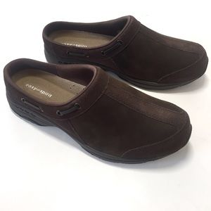 Easy Spirit Travelport Suede Leather Mules Size 9M